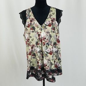 Daniel Rainn XL sleeveless v-neck lace blouse